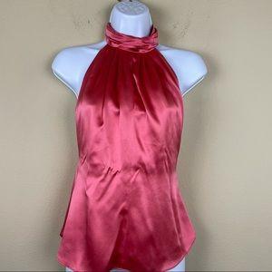 Guy Laroche silk charmeuse pink strawberry top 6